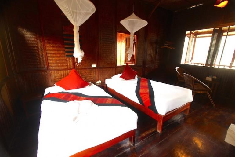 Mekong Riverside Lodge bungalows inside