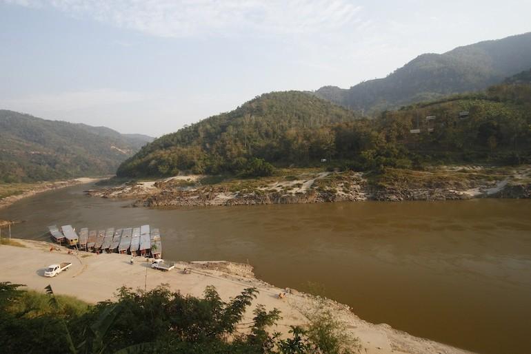 The mighty Mekong at Pakbeng
