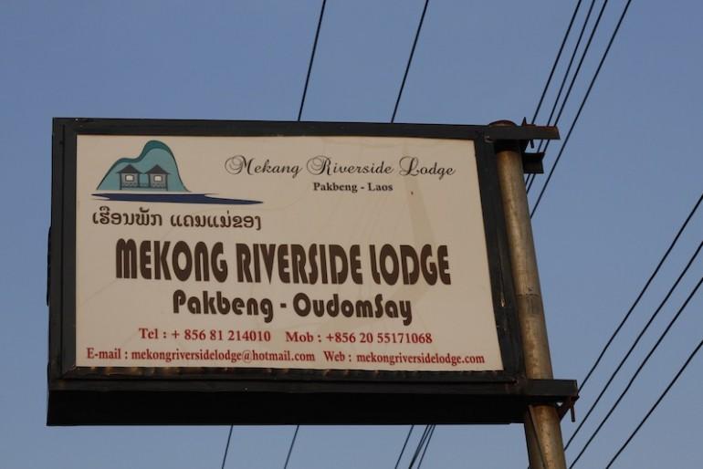 Mekong Riverside Lodge sign