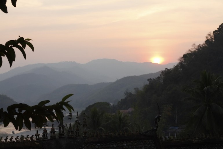 View of sunset from Wat Kokkor Mingmoungkoun