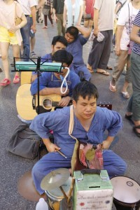 Deaf musicians performing in Walai Road