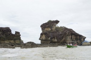 Tourist witness the Bako Sea Stack