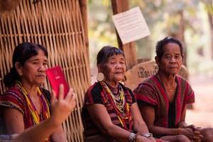 Ethnic ladies at the village