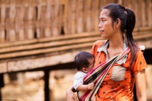 Mother and child at Nge village