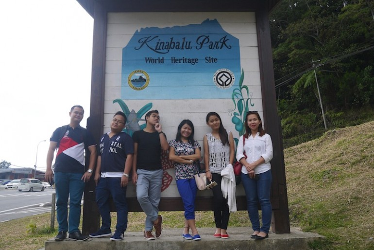 The group at Kinabalu National Park