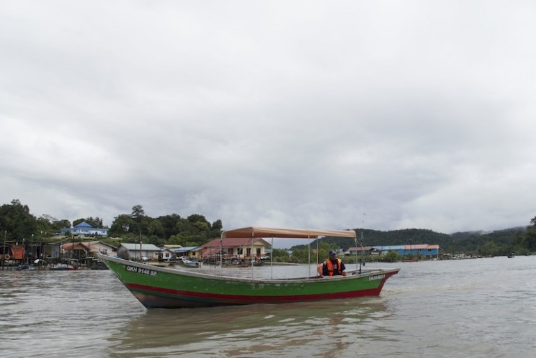 Departure for Bako National Park at Bako village