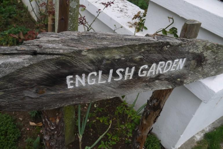 Entrance to the English garden