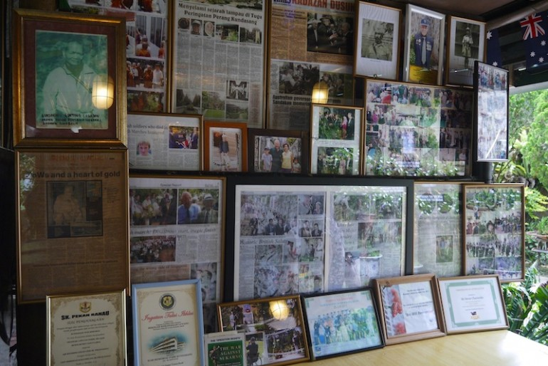 Gallery with newspaper cuttings