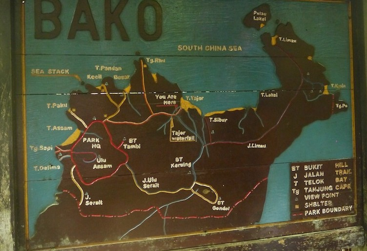 Bako National Park trails map