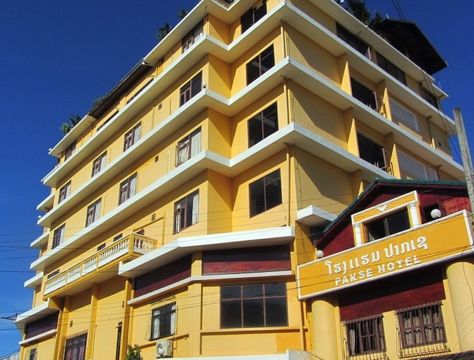 Pakse Hotel front of the establishment