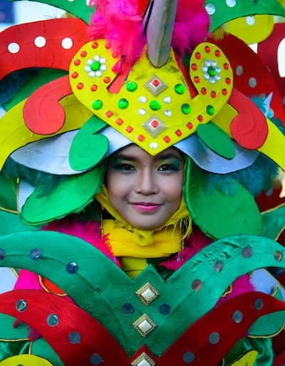 One of the colourful costumes of Borneo