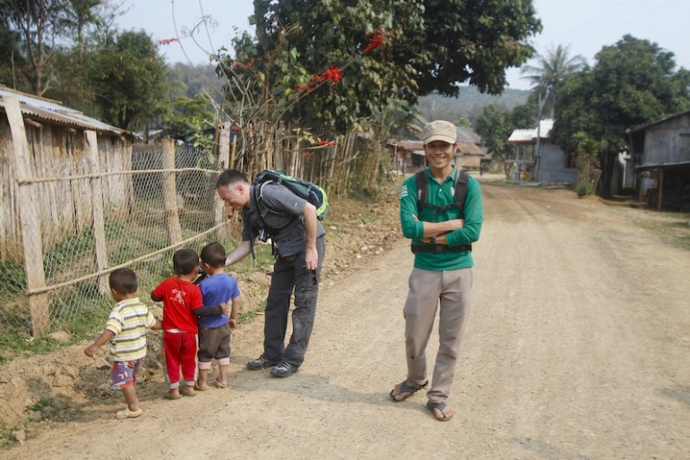 Song and Andrea at the Khmu village