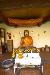 Buddha statue at Pha That Luang