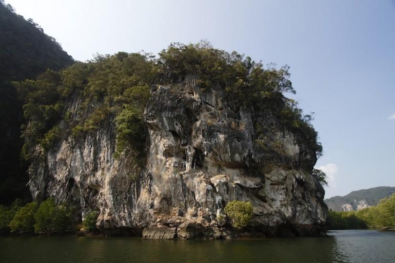 Eerie limestone rocks