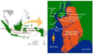 Map of central Kalimantan