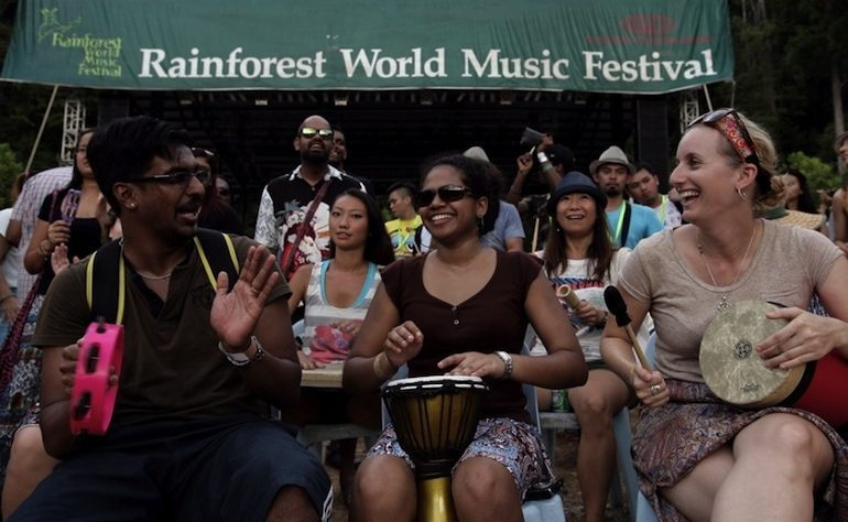 1drum.org at the Rainforest World Music Festival 2014
