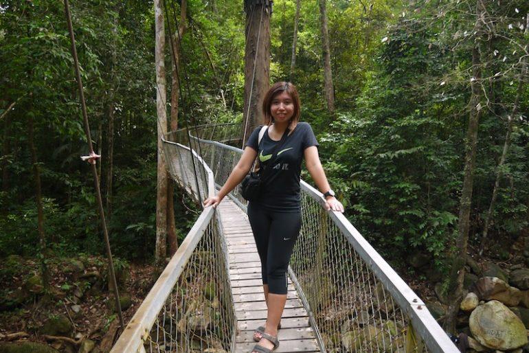 Me at the hanging bridge