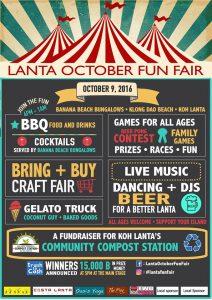 Lanta October Fun Fair program