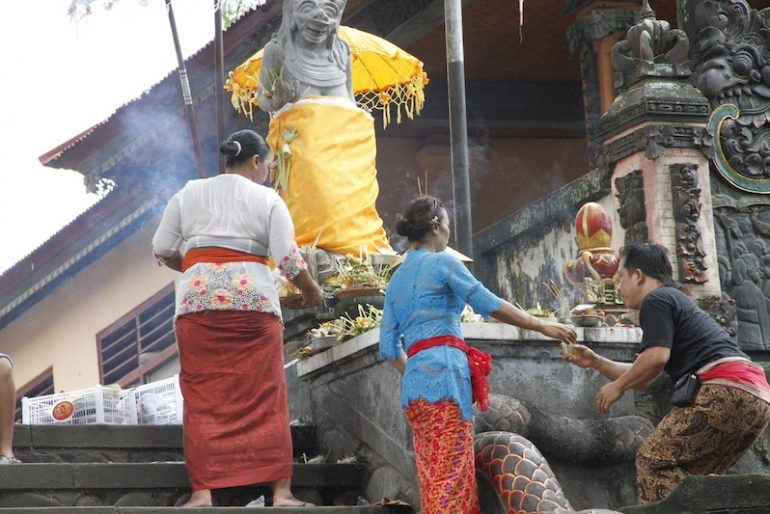 Offering to local temples