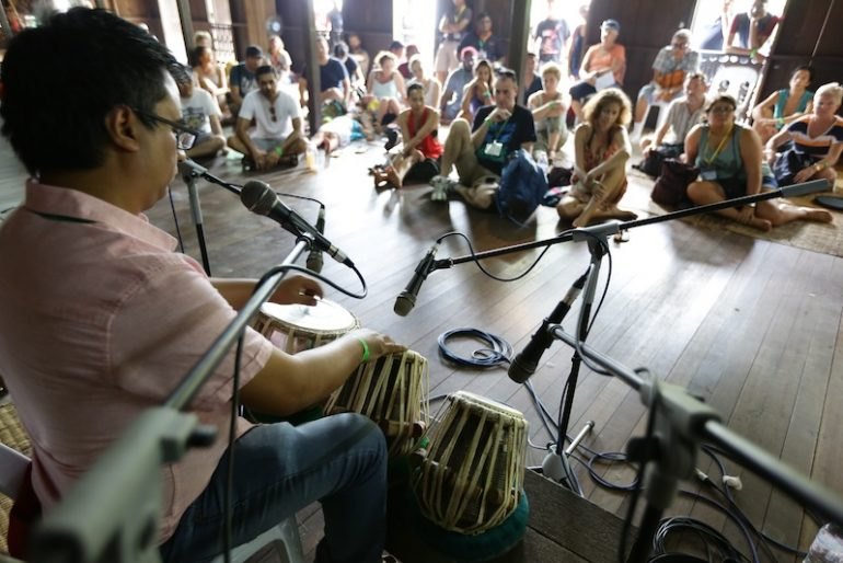 Amazing tabla player at one of the workshops