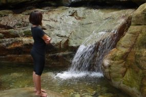 Jungle trek to Mount Santubong waterfalls
