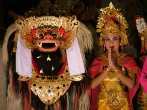 Ngelawang ceremony involving the Barong