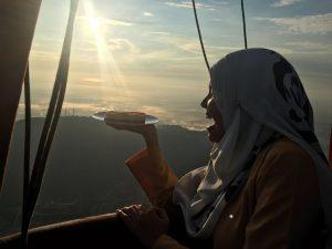 Ms Farisha Mazlan brought Kula Cakes' Mango Cheesecake on board