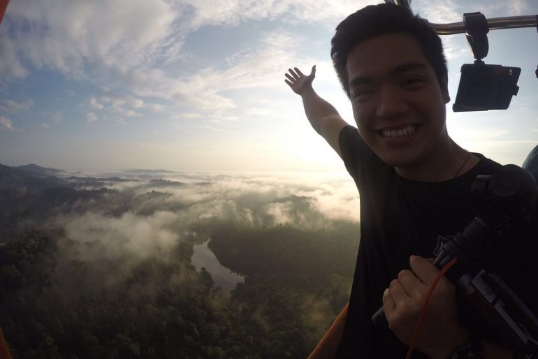Up above the Kuantan clouds
