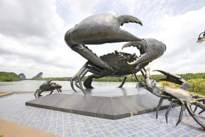 the black crab, Pu dam, Krabi town