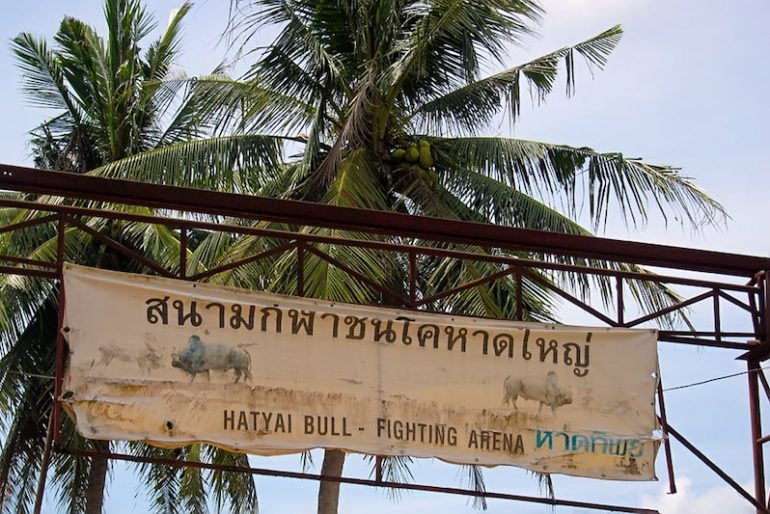 The entrance at the Songkhla bullfighting stadium