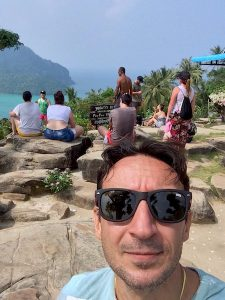 The author at Phi Phi viewpoint