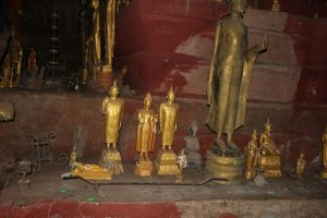 Buddhas inside the lower cave