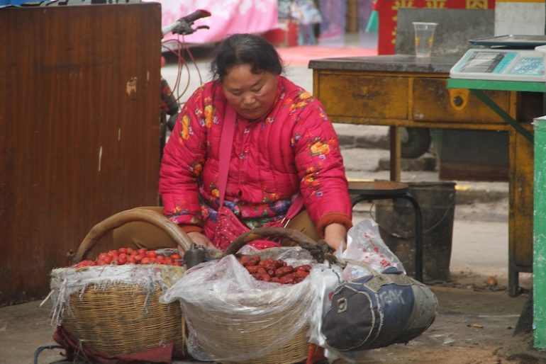 Seller at the Muslim quarter of Xi'an
