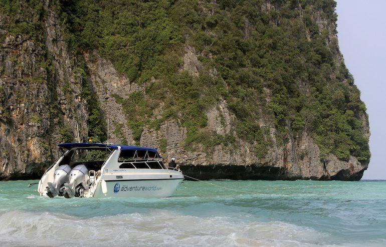 Siam Adventure World speedboat at Phi Phi