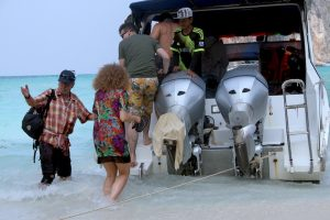 Boarding Siam Adventure World speedboat