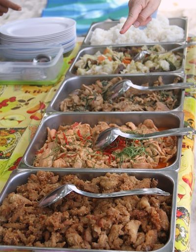 The buffet lunch