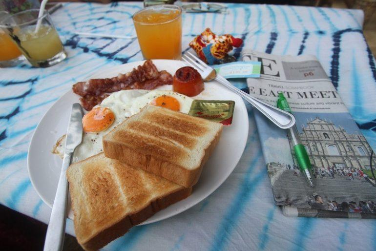 My earthy breakfast, beachfront!