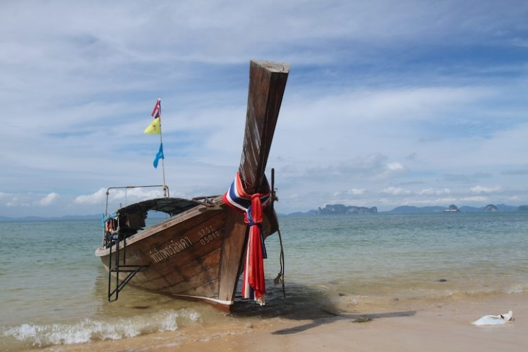 Traditional longtail boat