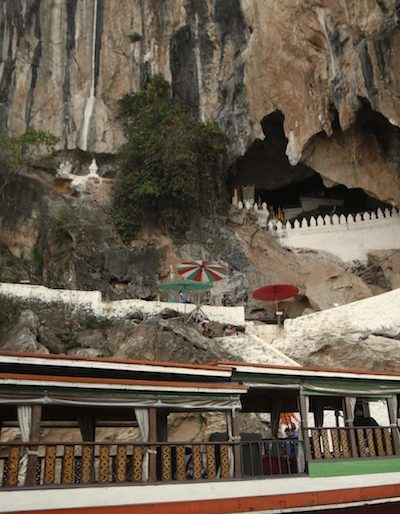 The landing at Pak Ou caves