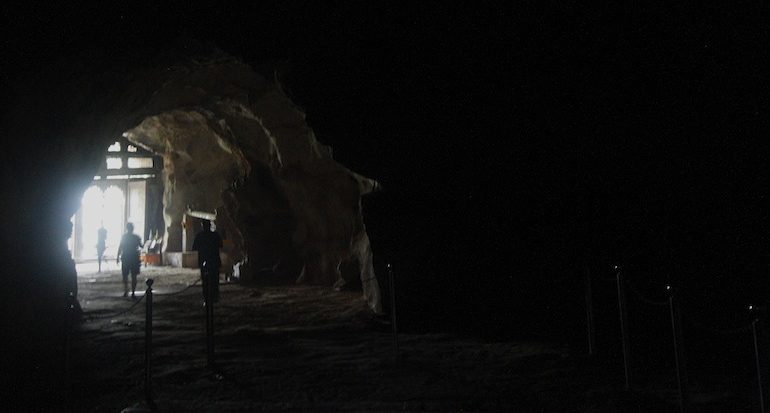 Inside the lower cave