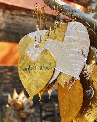 Sponsored golden and silver leaves