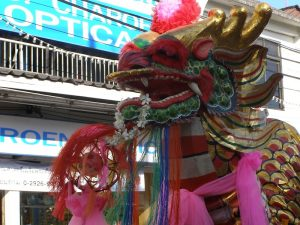 Chinese dancing dragons