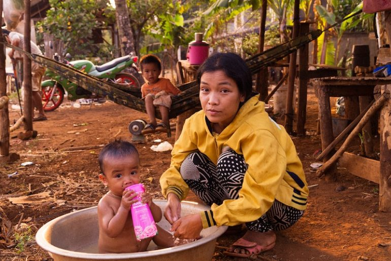 Local family on the Bolaven Plateau