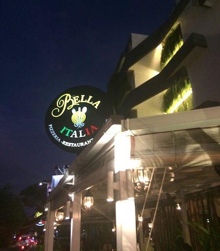 Entrance of Bella Italia restaurant