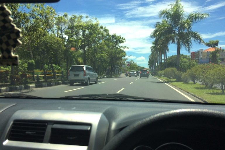 Driving in Bali south