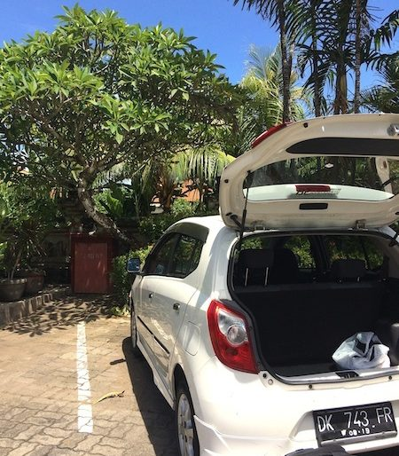 My rented car from Echo Bali Car Rental