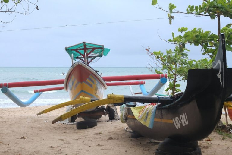 Outrigger boats on the Jimbaran beach