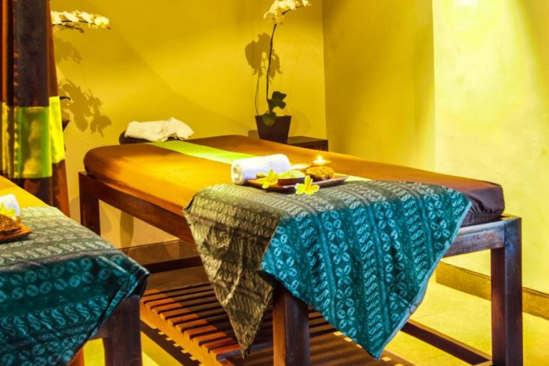 The massage beds