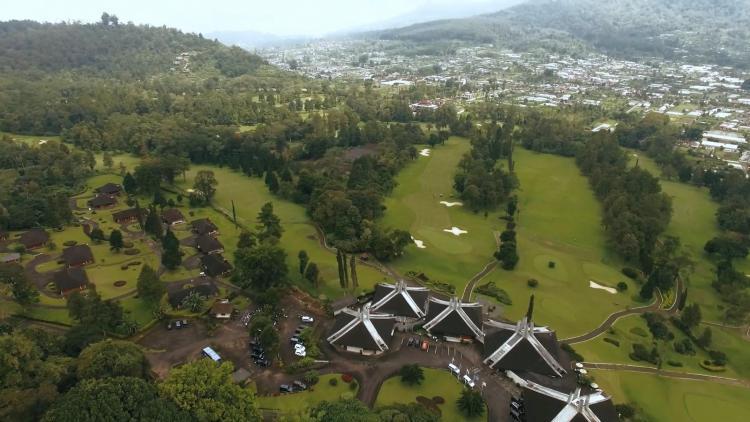 Handara Golf Resort Bali aerial view