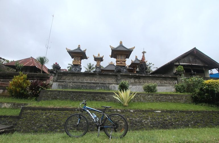Cycling alongside local villages